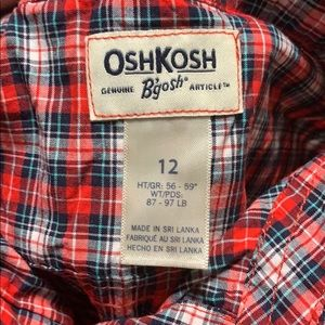 OshKosh B'gosh Shirts & Tops - Girls Plaid Button Down Shirt